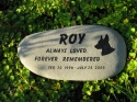Large River Stone Pet Memorial (10-12 Inches)