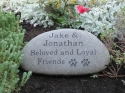 Extra Large River Stone Pet Memorial ( 13+ Inches)